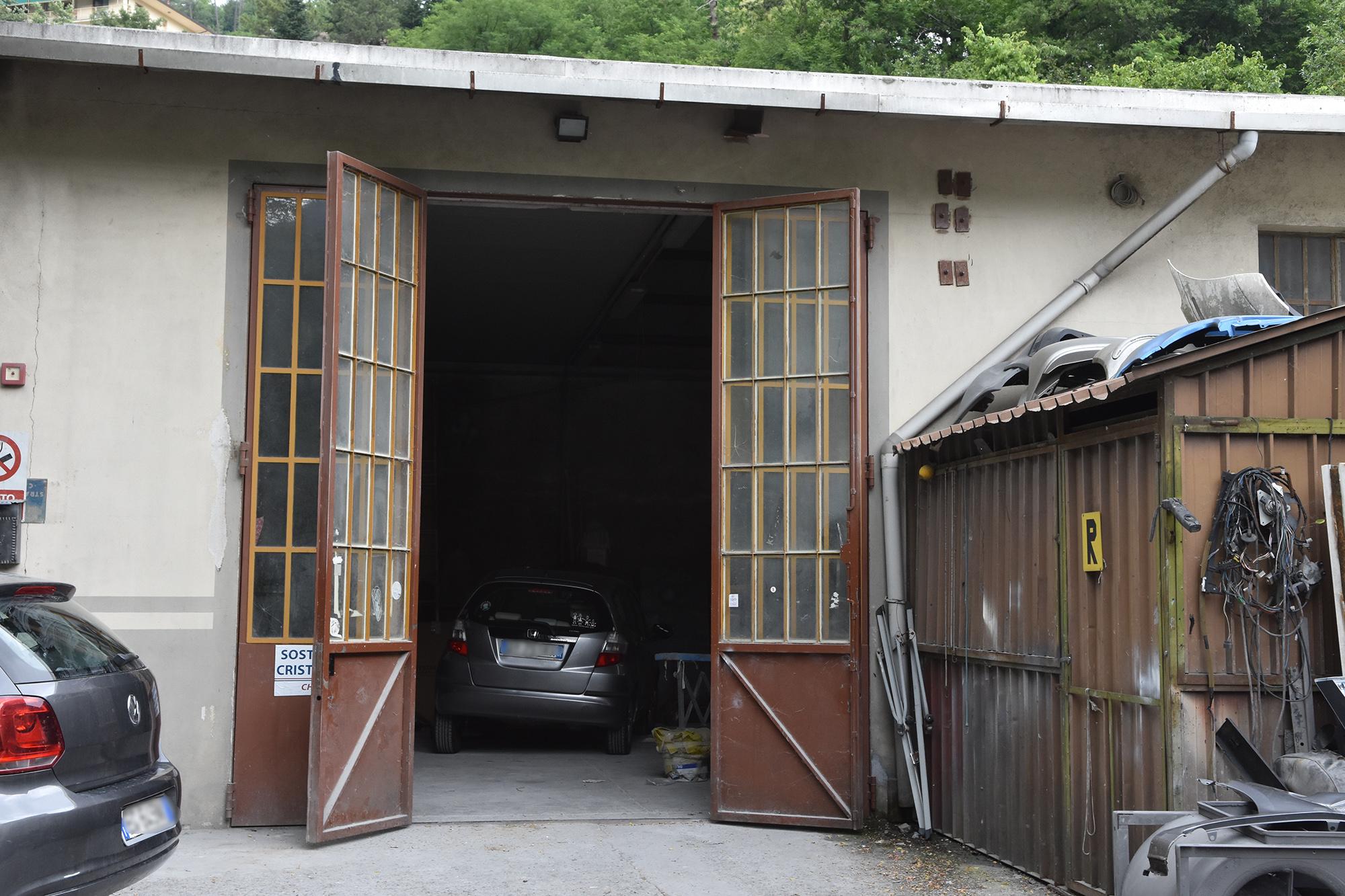 L'ingresso della carrozzeria