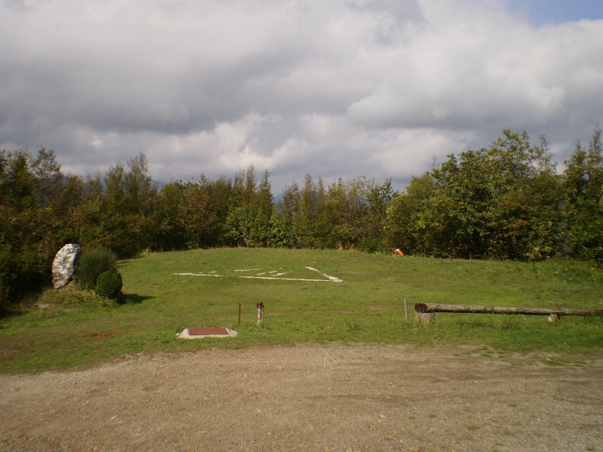 Panoramica area di atterraggio