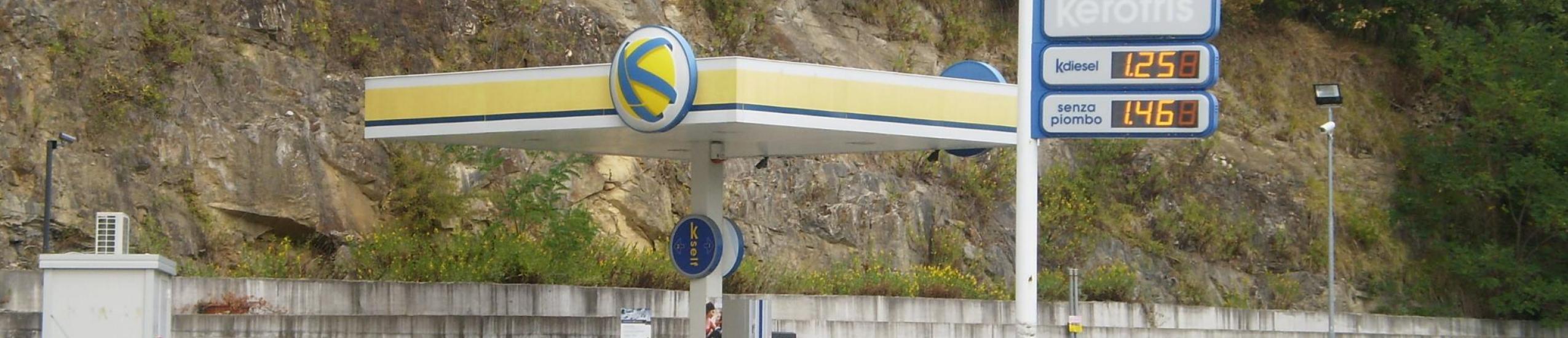 La pompa di benzina
