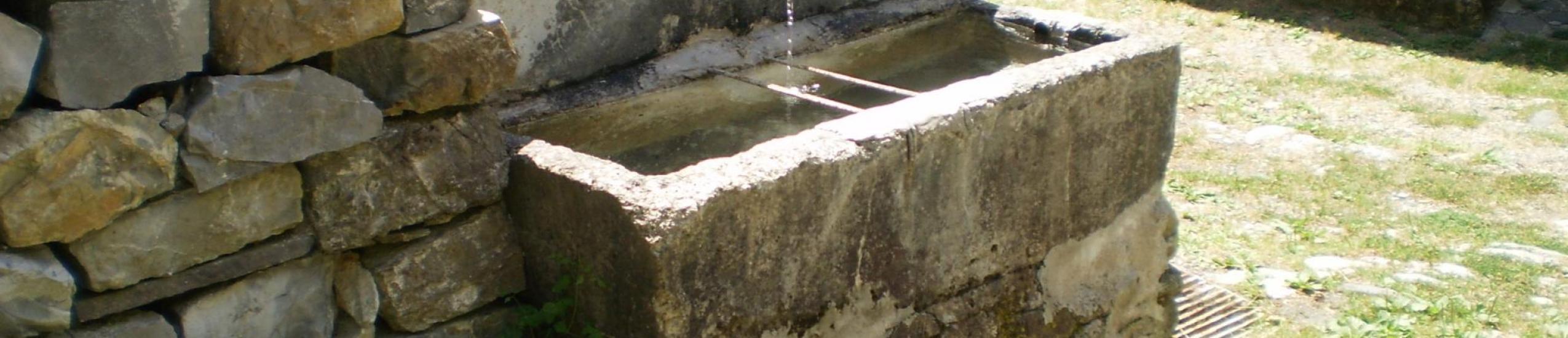 Vista della fontana