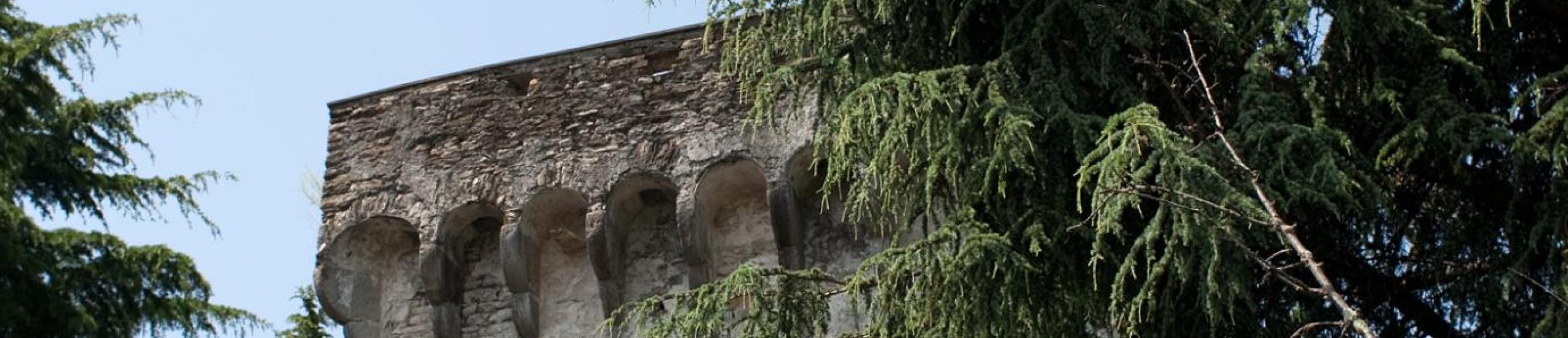 """torre medievale e sentiero """"delle cinque torri"""""""