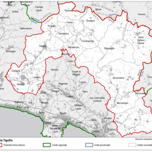 Area di progetto (elaborazione Regione Liguria su dati ISTAT 2018)