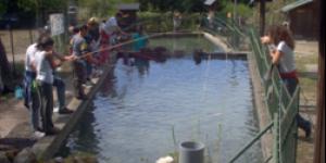 le vasche dell'acquario fluviale di Fontanigorda