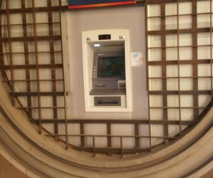 Particolare bancomat esterno
