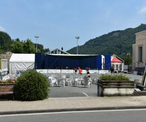 Un esempio del parcheggio utilizzato per eventi e manifestazioni