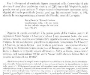 Dal Libro sulla Liguria Dantesca di Paola Manni