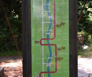 La cartina mostra il percorso della ciclovia dell'ardesia